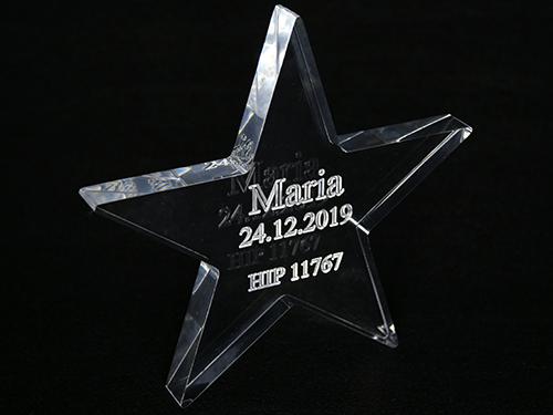 Stjerne i akrylglass
